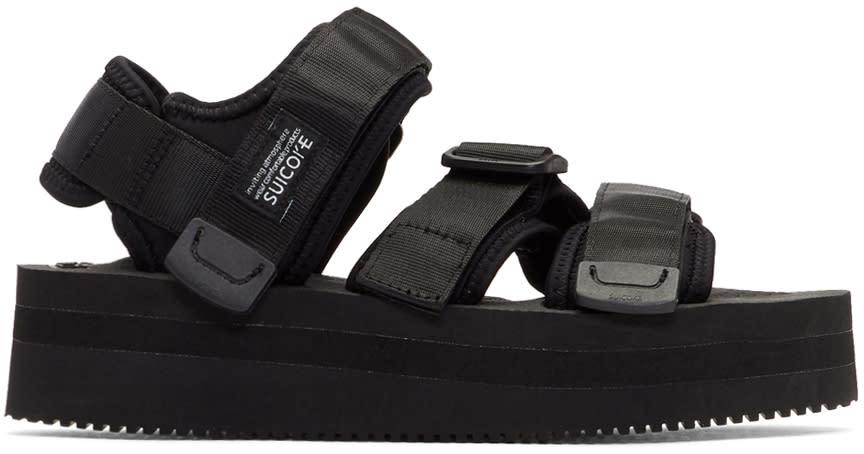 Suicoke Black Platform Kisee-vpo Sandals