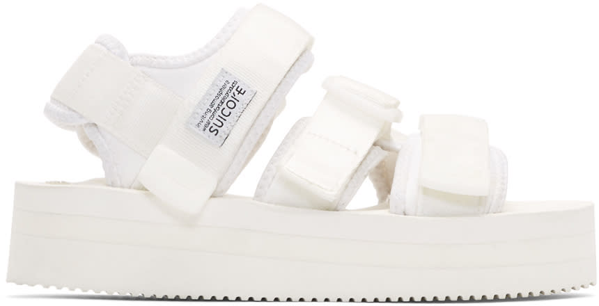 Suicoke White Kisee Platform Sandals