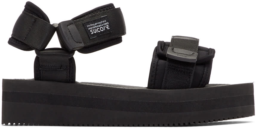 bee77134aca Suicoke Black Cel Vpo Sandals