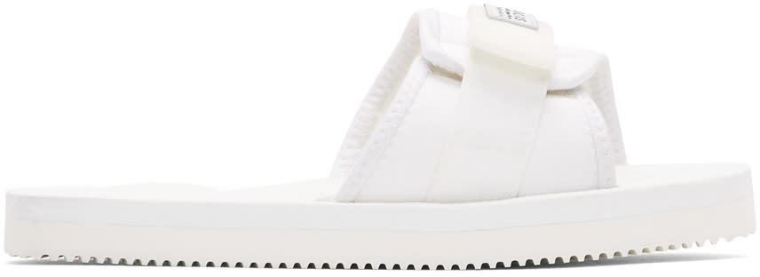 Suicoke Ssense Exclusive White Padri Sandals
