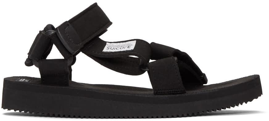 Suicoke Black Depa Sandals