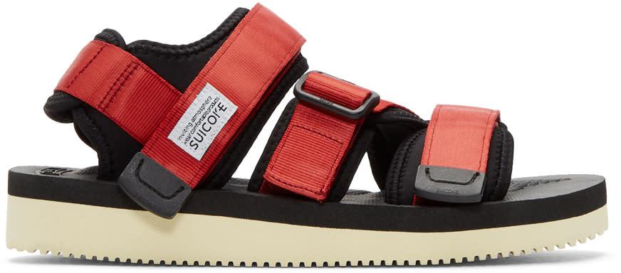Suicoke Red Kisee-v Sandals