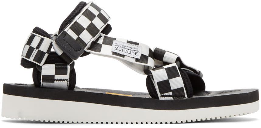 c8ff9455f15 Suicoke Black and White Depa v2 Sandals