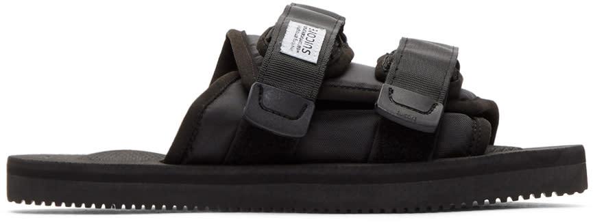 Suicoke Black Moto-cab Sandals