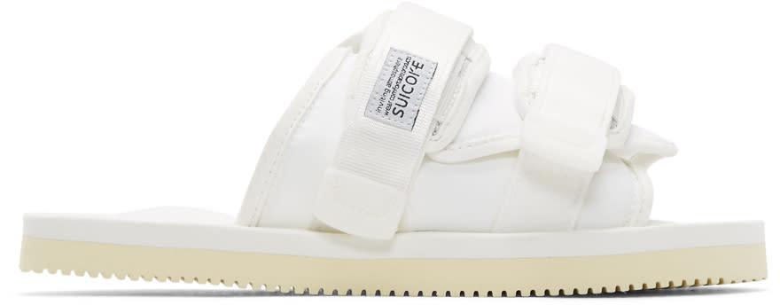Suicoke White Moto-cab Sandals