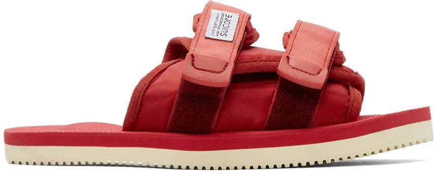 Suicoke Ssense Exclusive Red Moto-cab Sandals