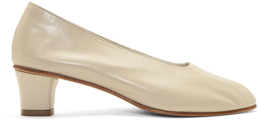 Image of Martiniano Beige High Glove Heels