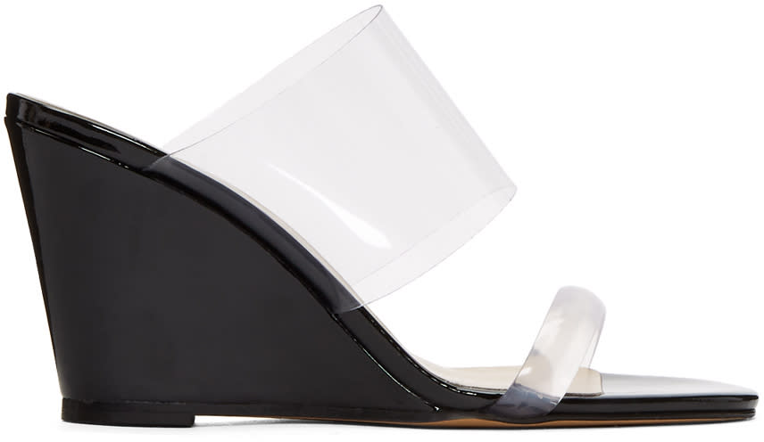 Maryam Nassir Zadeh Black Olympia Wedge Sandals