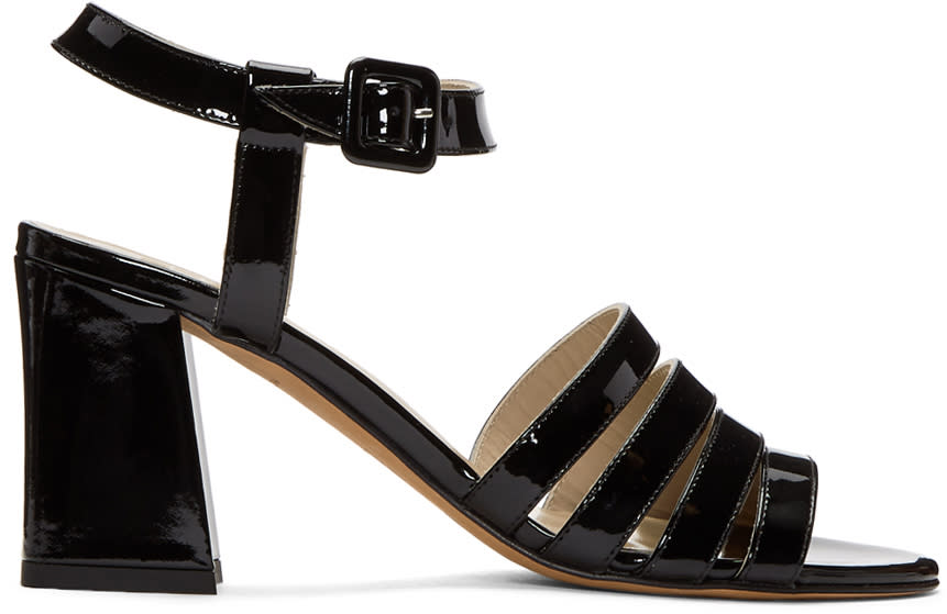 Maryam Nassir Zadeh Black Patent Palma High Sandals