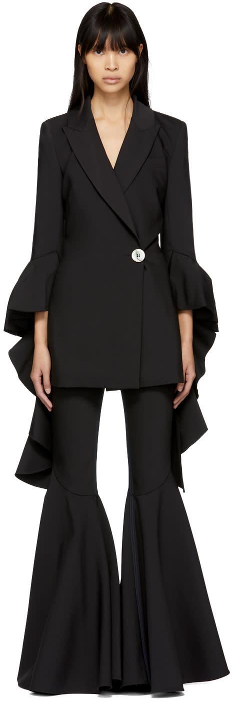 Ellery Black Forsaken Frill Sleeve Blazer