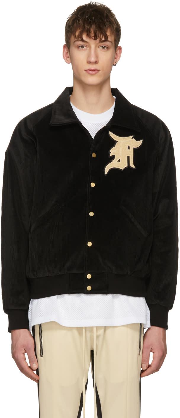 2ab64dbb7 Fear Of God Ssense Exclusive Black Corduroy Coaches Jacket