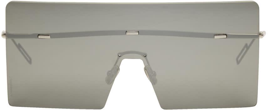 Image of Dior Silver Hardior Shield Sunglasses