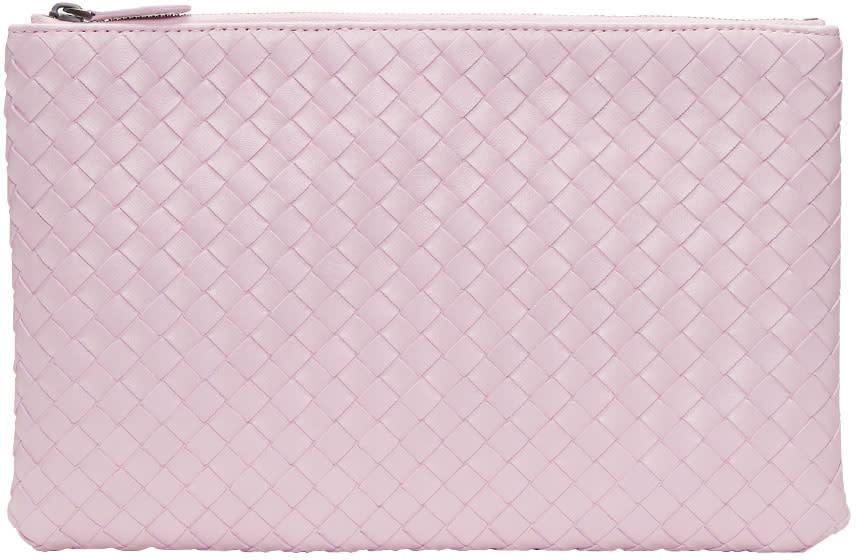 d0b102b63 Bottega Veneta Pink Intrecciato Pouch