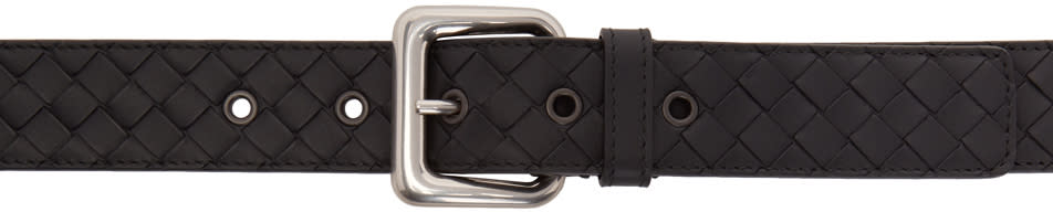 Image of Bottega Veneta Black Intrecciato Braided Belt