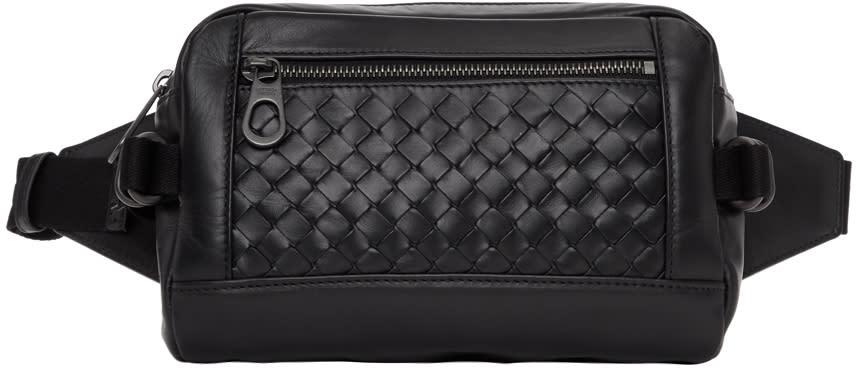 Bottega Veneta Black Intrecciato Belted Bag