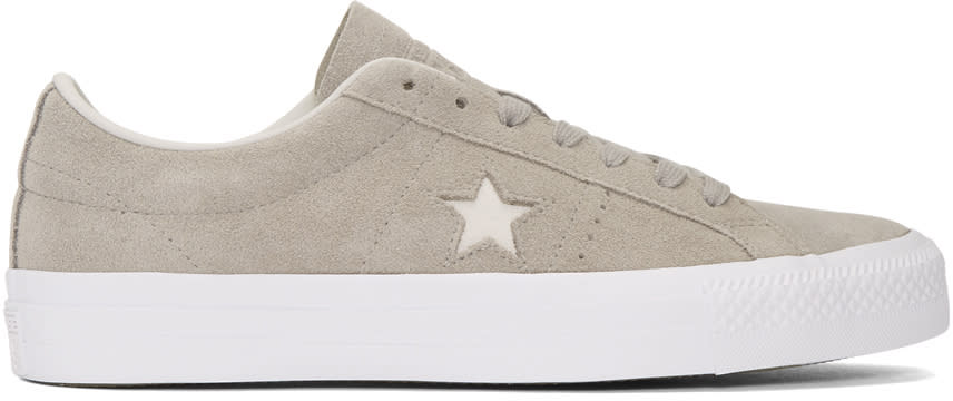 Image of Converse Grey Suede One Star Pro Ox Sneakers