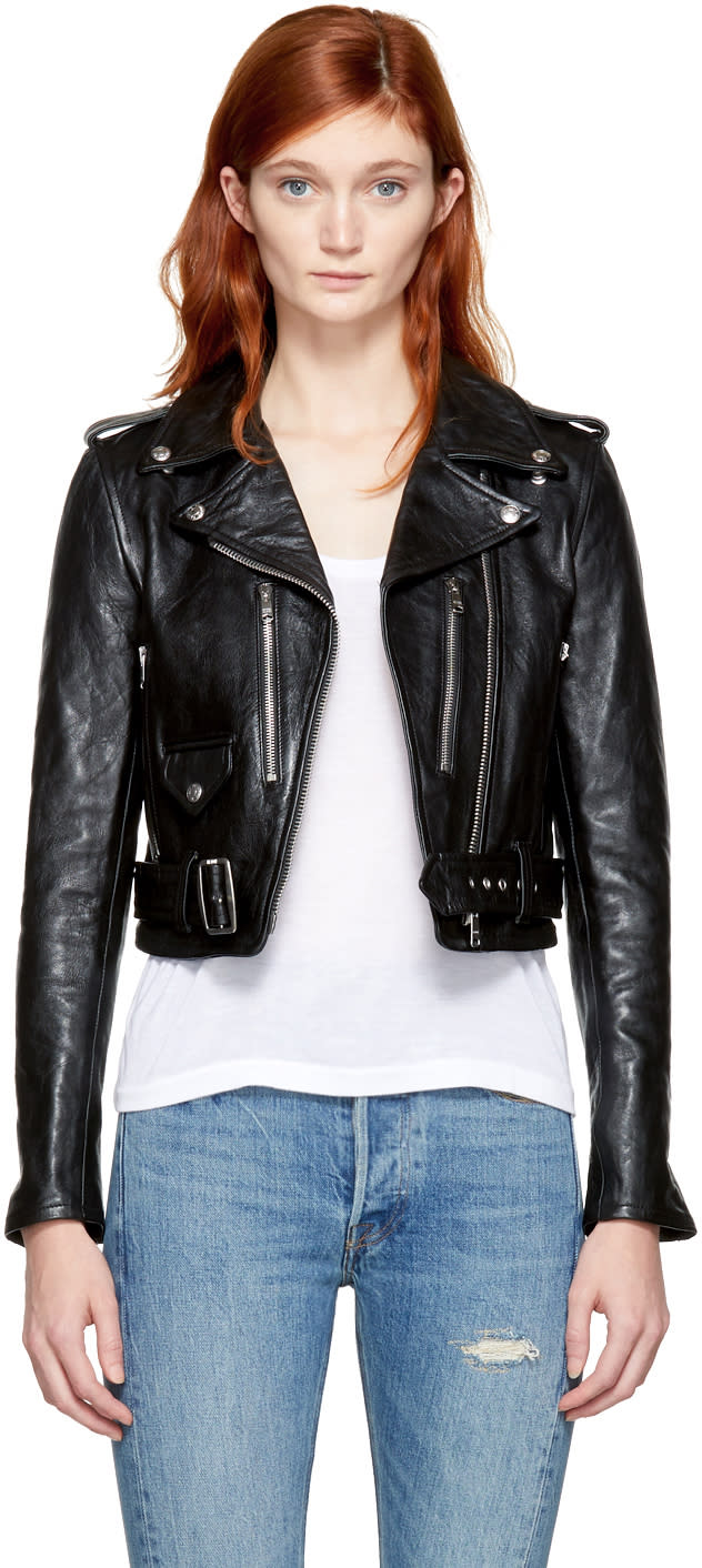 Image of Re-done Black Leather Motorcycle Jacket