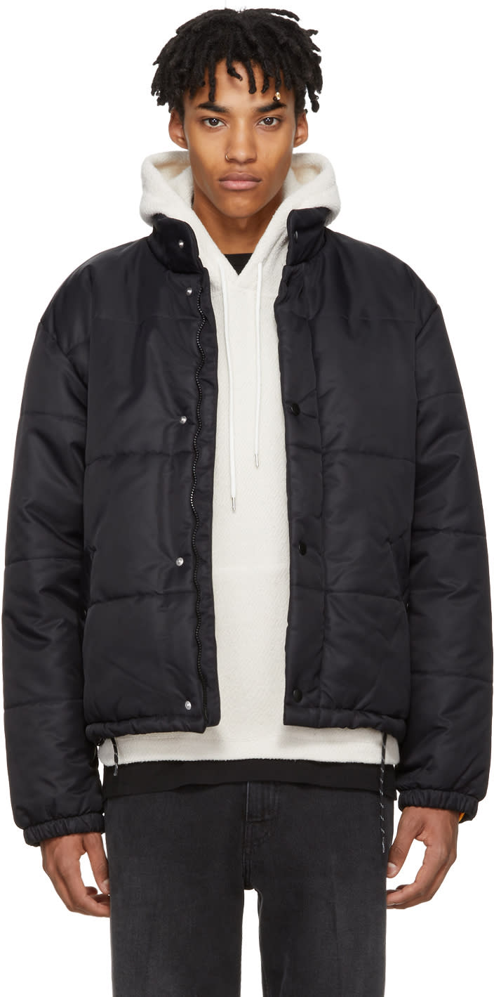 Image of Our Legacy Black Nylon Bubble Jacket