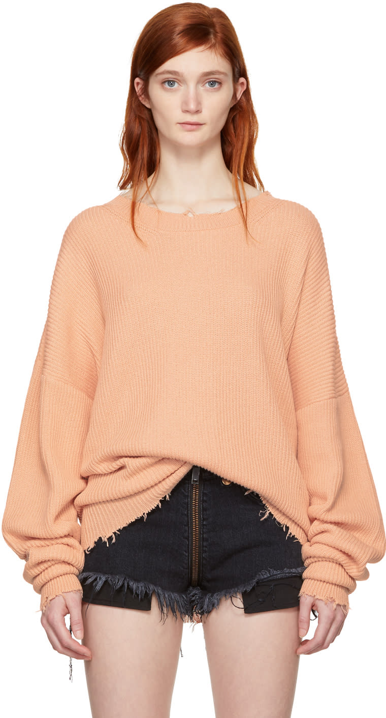 Image of Unravel Pink Oversized Ribbed Sweater