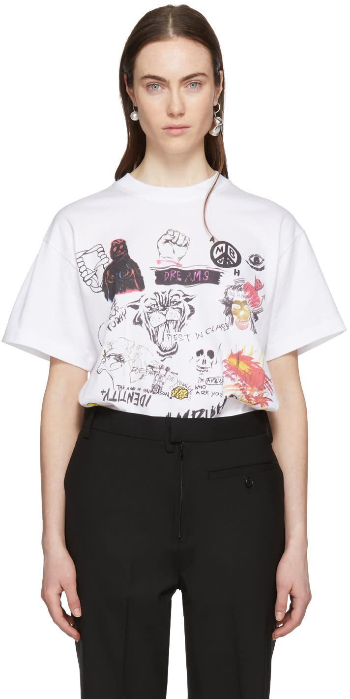 Ambush T-shirt Blanc Graphic Exclusif à Ssense
