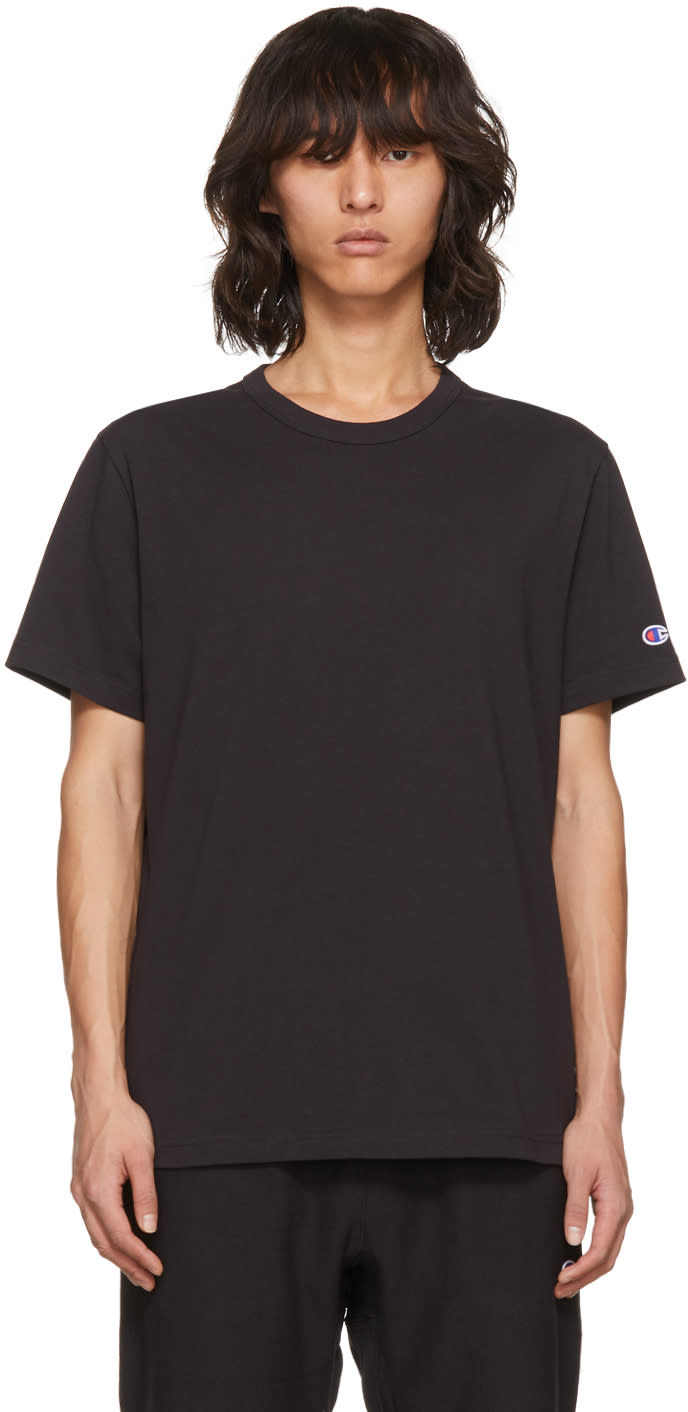 Image of Champion Reverse Weave Black Basic T-shirt