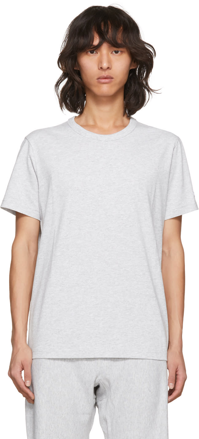 c70a1301599 Champion Reverse Weave Grey Basic T shirt