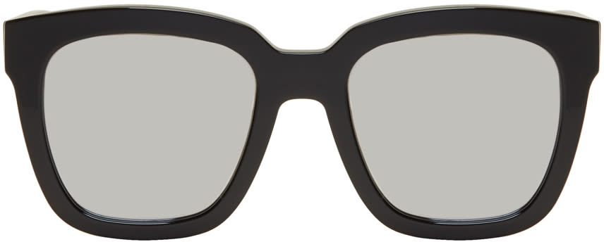 Image of Gentle Monster Black and Silver Large Dreamer Hoff Sunglasses