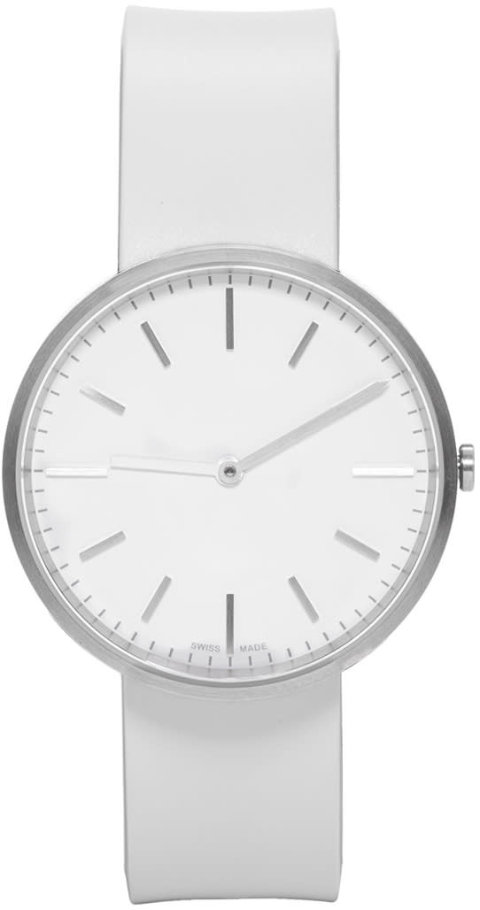 Uniform Wares Silver and Grey Rubber M37 Two-hand Watch