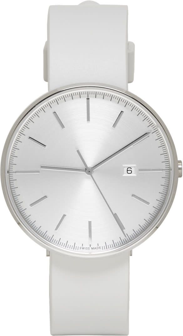 Uniform Wares Silver and Grey M40 Date Watch