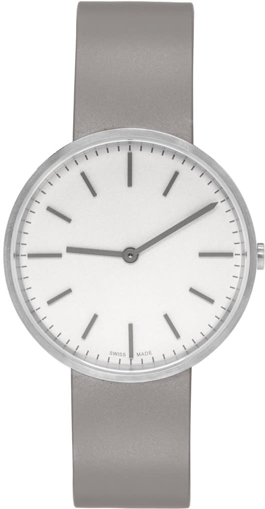 Uniform Wares Silver and Taupe Brushed M37 Two-hand Watch