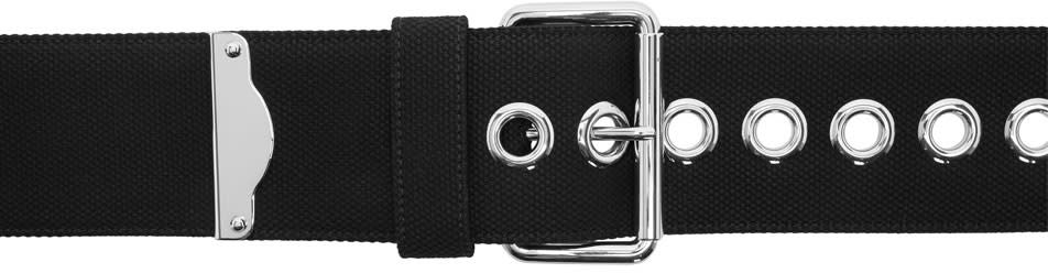 Image of Miu Miu Black Canapa Belt
