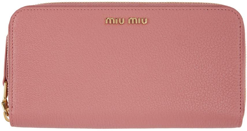 ff98098d58b6 Miu Miu Pink Continental Wallet