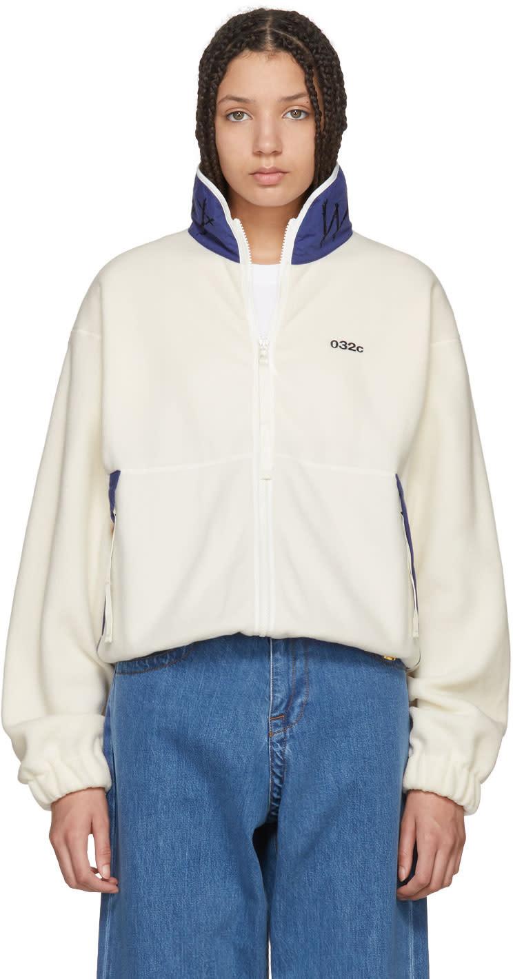 032c female 032c white wwb fleece jacket