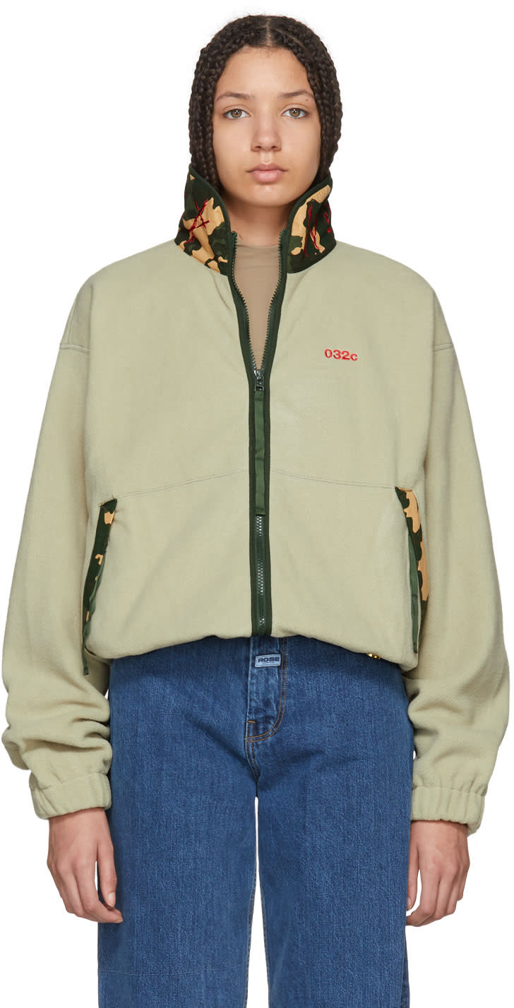 032c female 032c green wwb fleece jacket