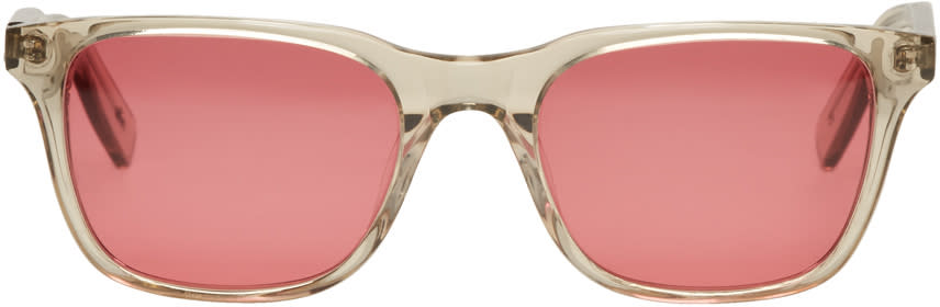 Image of All In Beige and Red York Sunglasses