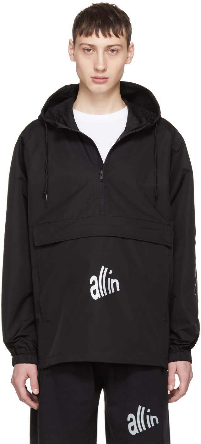 Image of All In Black Waterproof Rain Jacket
