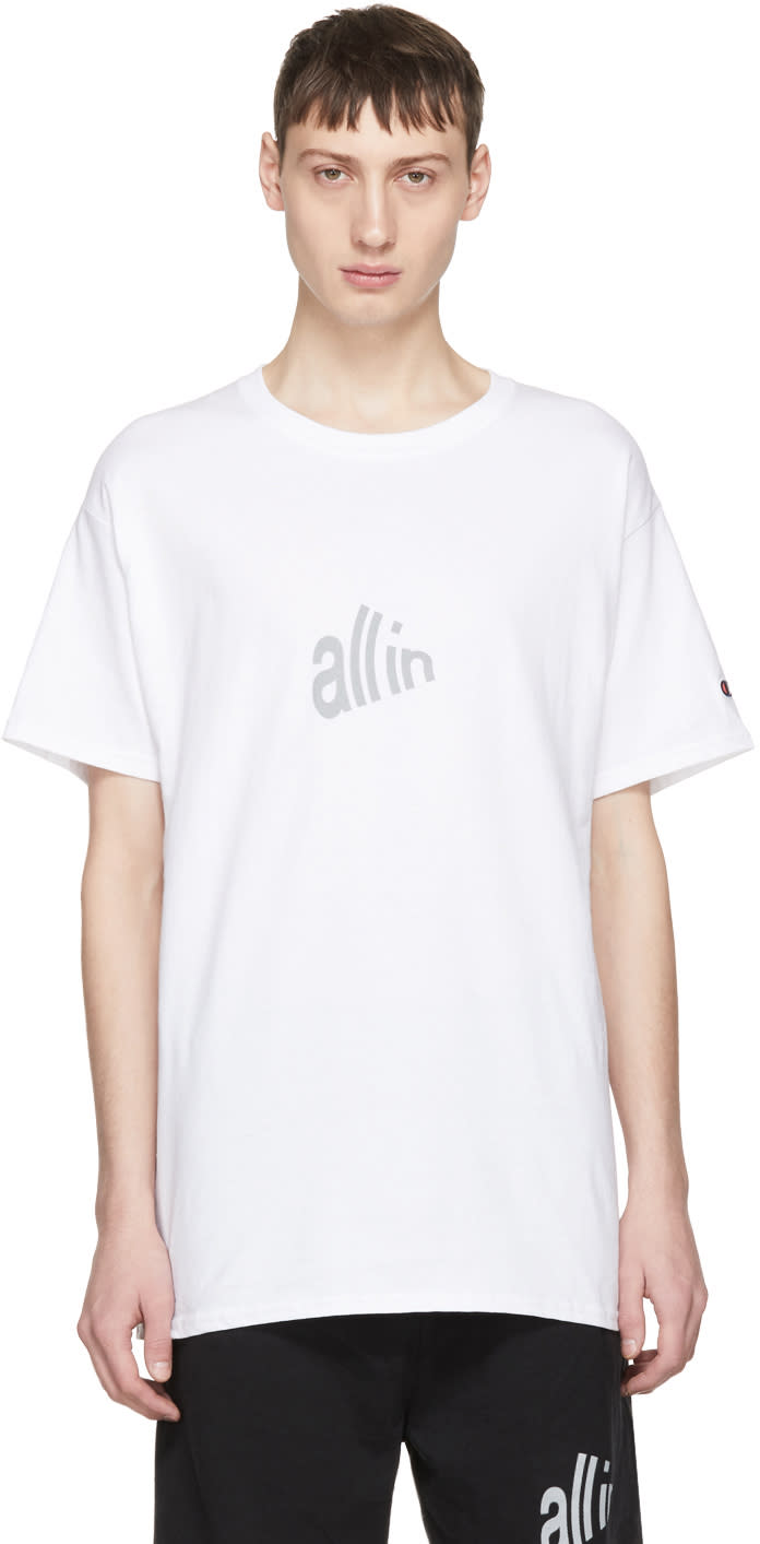 All In T-shirt Blanc Signal