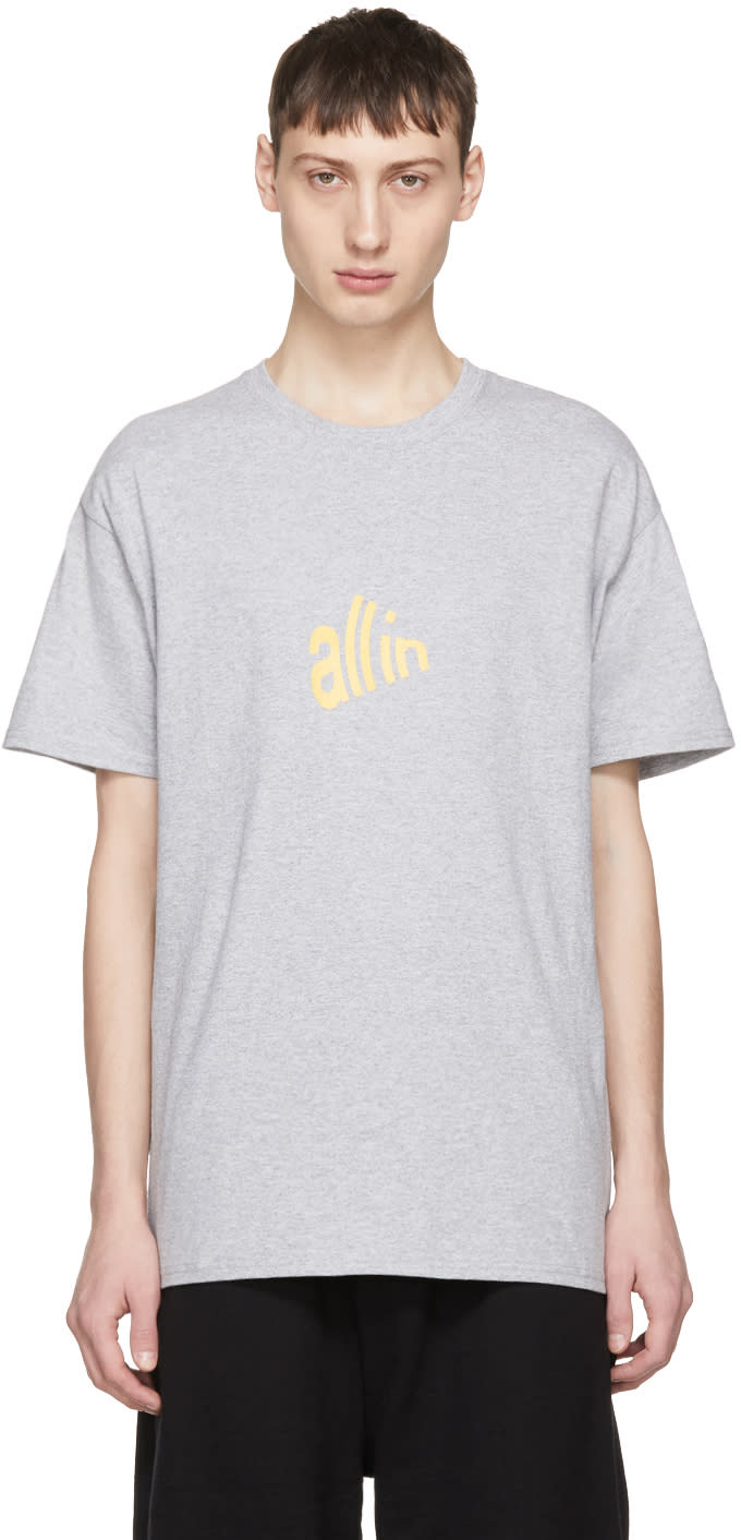All In T-shirt Gris Signal édition Champion