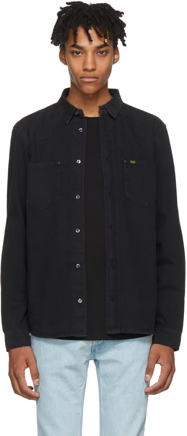 Image of Tiger Of Sweden Jeans Black Pure Pkt Denim Shirt