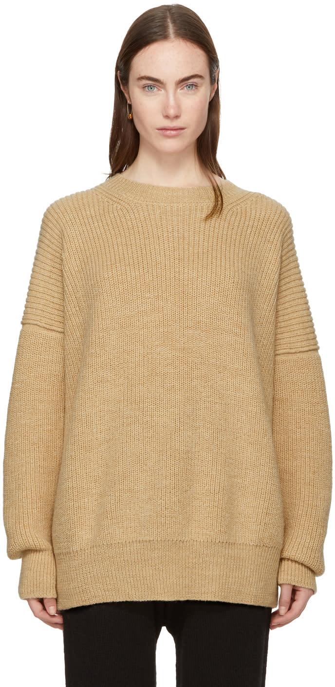 Image of Lauren Manoogian Ssense Exclusive Beige Fisherman Crewneck Sweater
