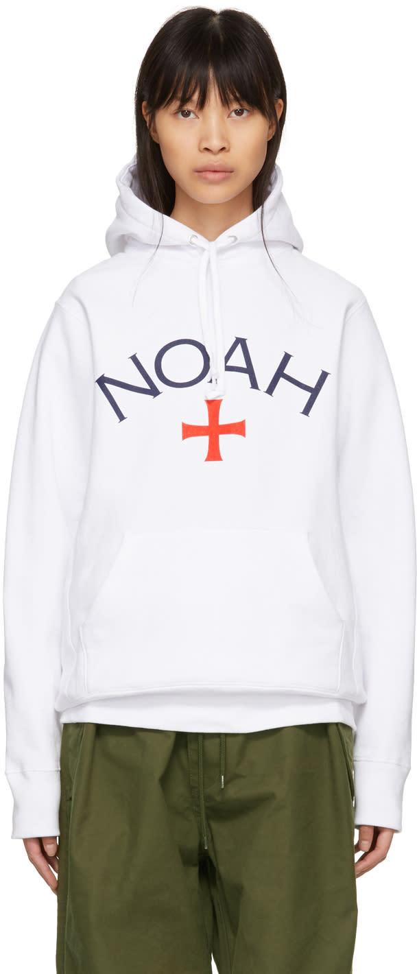 Noah Nyc White Core Logo Hoodie ddd6243a60a6