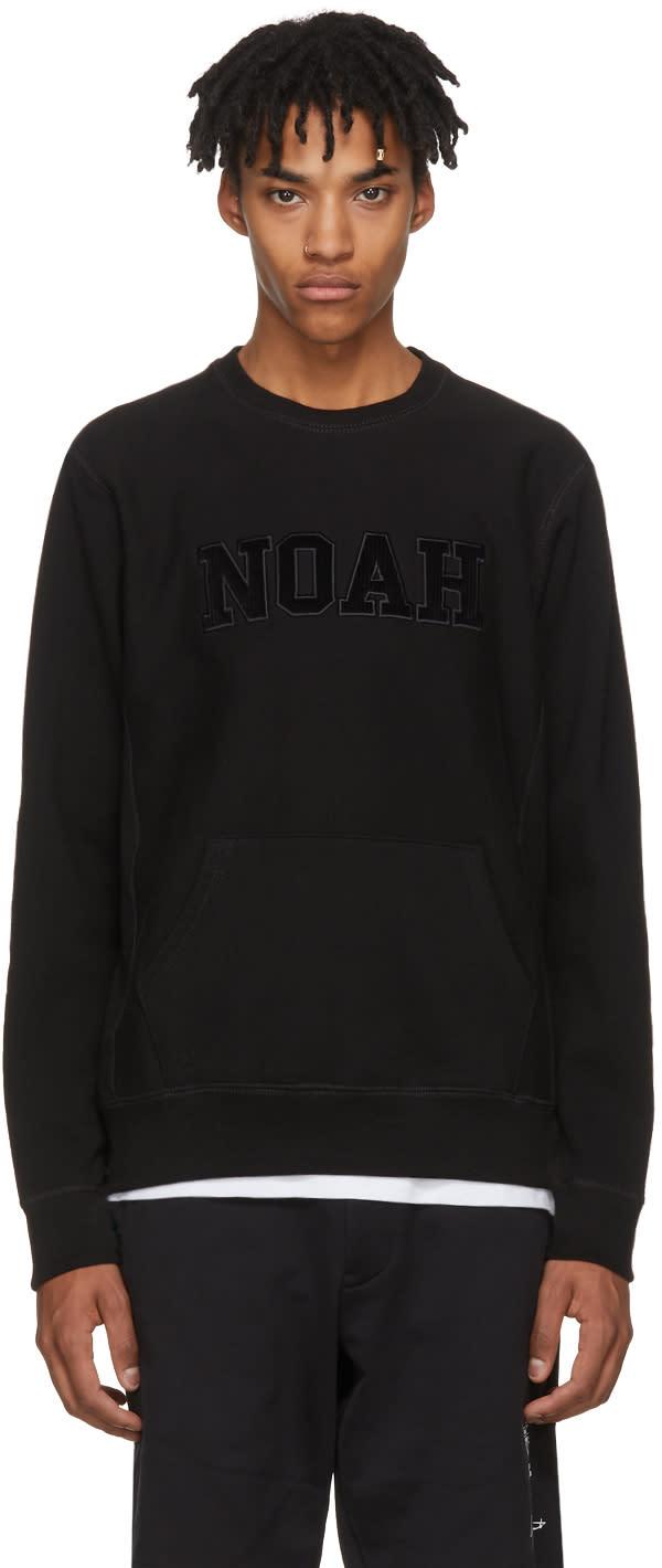Image of Noah Nyc Black Logo Core Crew Sweatshirt