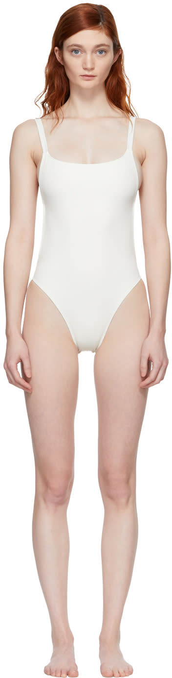Solid and Striped Maillot De Bain Ivoire The Toni