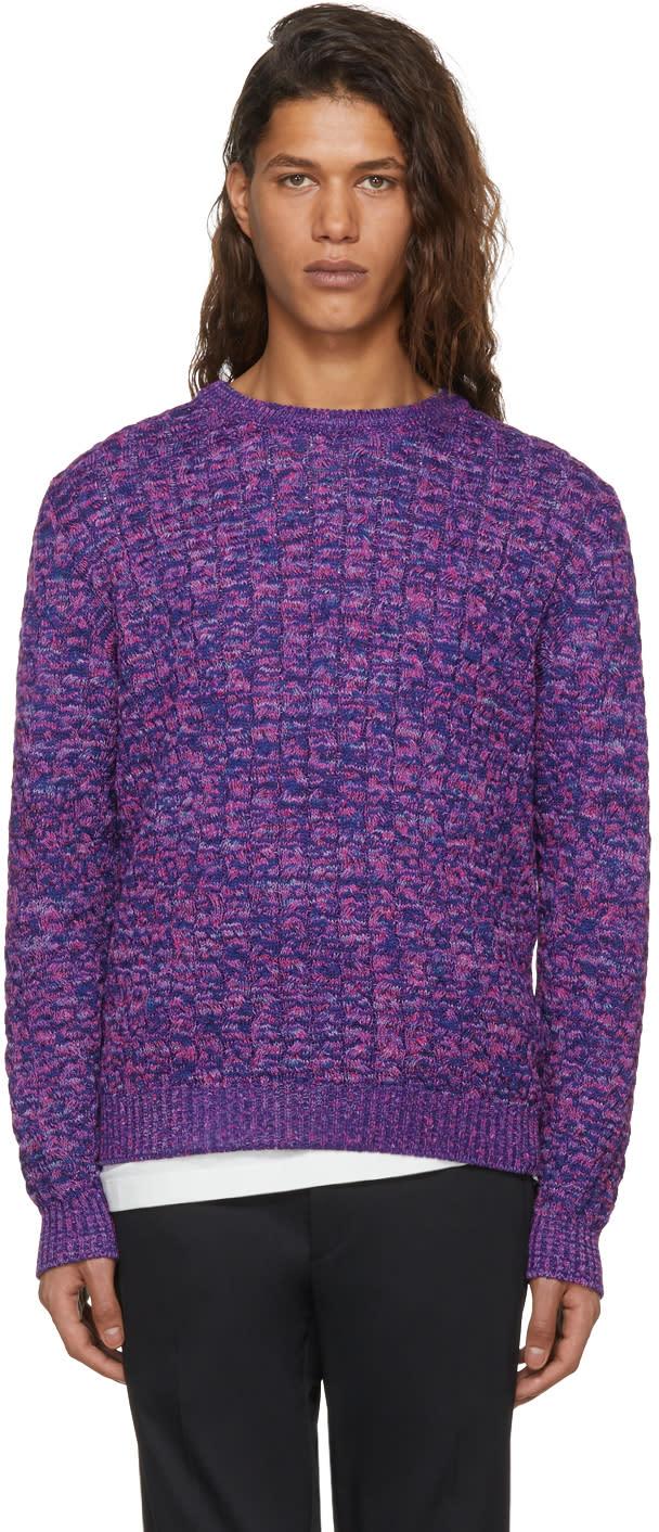 e1d331eb7b4e6 Missoni Purple and Blue Cable Knit Sweater