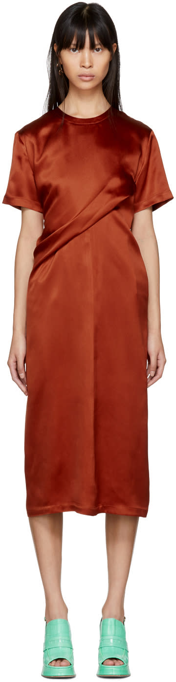 Sies Marjan Orange Waverly Twist Dress