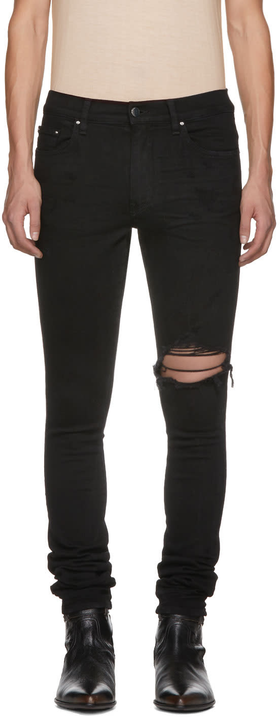 Image of Amiri Black Broken Jeans