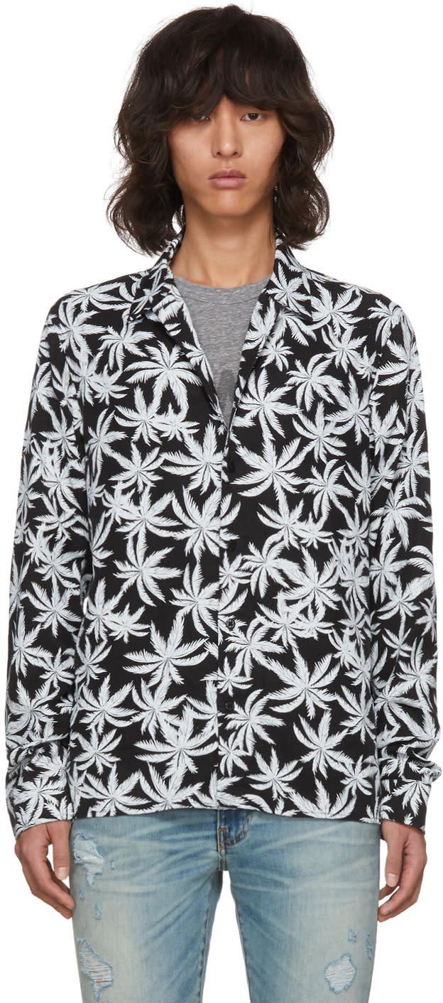 Image of Amiri Black and White Palm Shirt