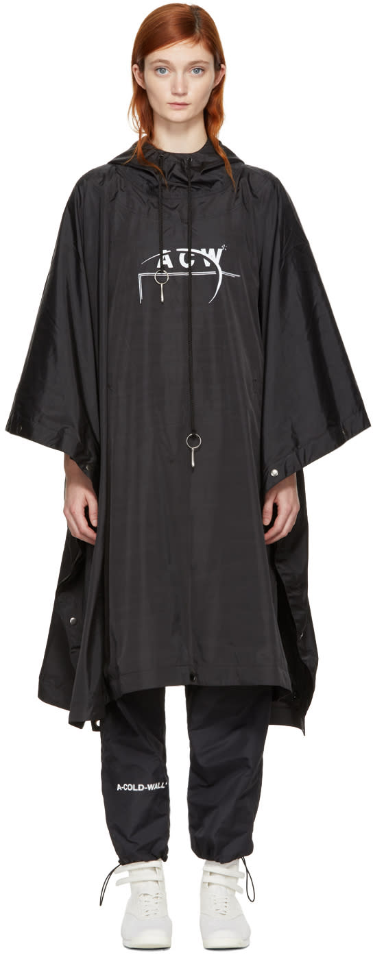 A-cold-wall* Ssense Exclusive Black Technical Poncho