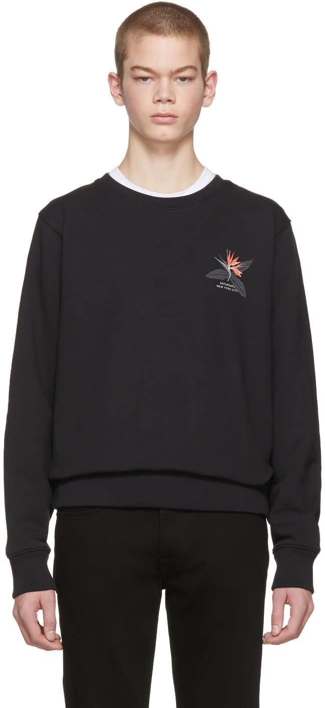 Image of Saturdays Nyc Black Bowery Paradise Sweatshirt