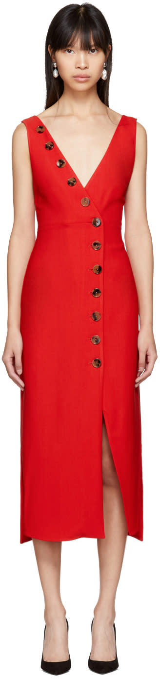 Khaite Red Christy Dress
